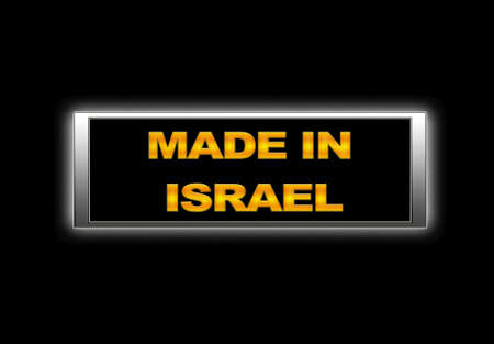 Illuminated sign with Made in Israel. Stock Photo - 14165276
