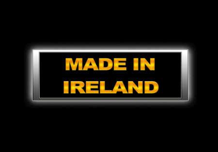 Illuminated sign with Made in Ireland. Stock Photo - 14165280