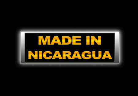 Illuminated sign with Made in Nicaragua. photo