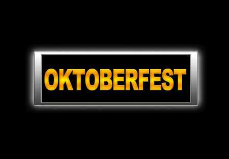Illuminated sign with oktoberfest Stock Photo - 14271074