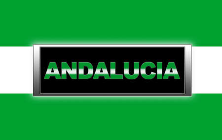 Illuminated sign with Andalucia. photo