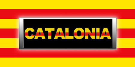 catalonia: Illuminated sign with Catalonia.