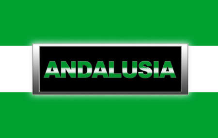 Illuminated sign with Andalusia. photo