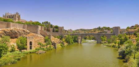 St Martin ponte, Toledo, Spagna Archivio Fotografico
