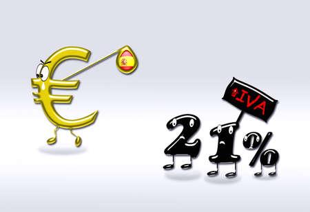 Tax increase in Spain. photo