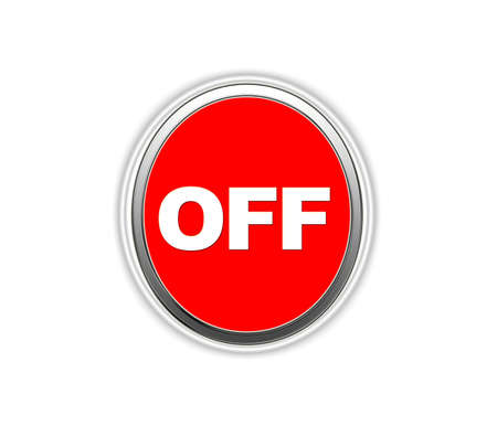 Illustration of a red button with a word OFF  illustration