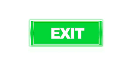 Illustration of a button to exit sign. illustration