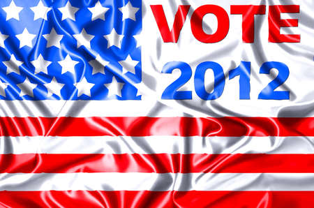 Illustration Vote USA 2012 in silk cloth  Stock Illustration - 15017774