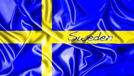 Sweden flag  Stock Photo - 15081438