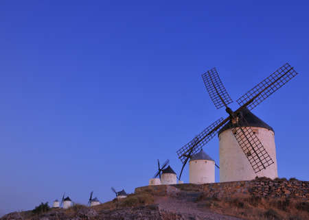 View of the windmills in Consuegra, Spain  photo