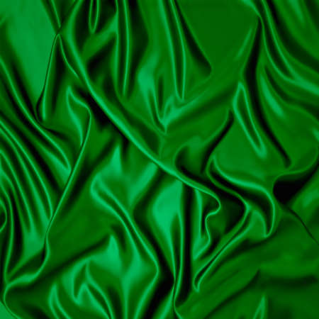 Illustration with green silk cloth with folds  illustration