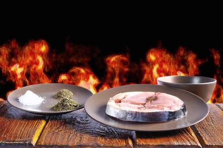 cantabrian: White Tuna Cantabrian prepared to to grill