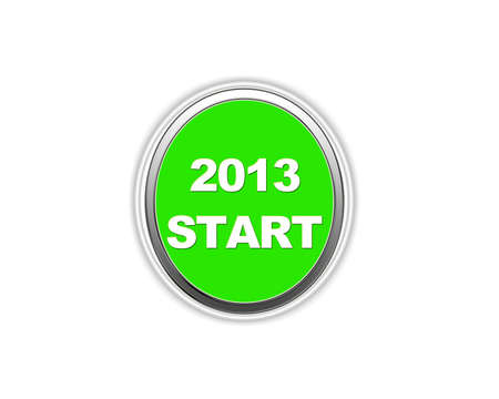 Illustration of a button to 2013 start  Stock Illustration - 15233494