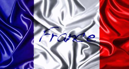 Silk folds cloth illustration of France flag  illustration