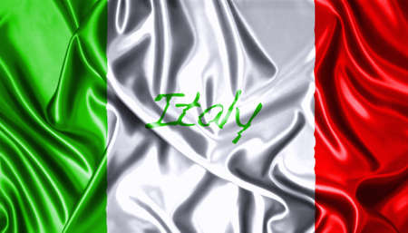 Silk folds cloth illustration of Italy flag  illustration