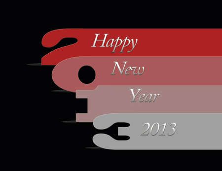 illustration with 2013 numbers on black background Stock Illustration - 15353121