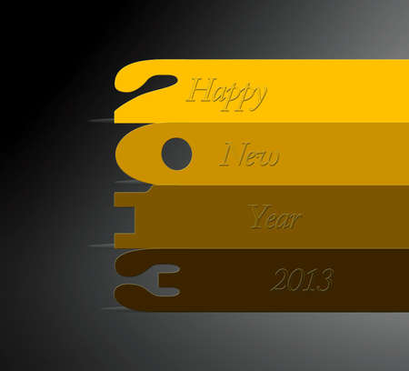 illustration with 2013 numbers on grey background  Stock Illustration - 15566388