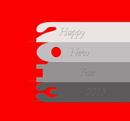 illustration with 2013 numbers on red background Stock Illustration - 15570676