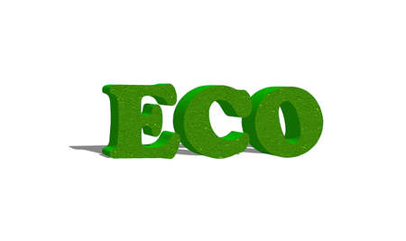 Illustration with a word Eco in 3D  illustration