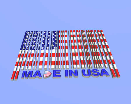 Illustration with a barcode made in usa Stock Illustration - 15629391