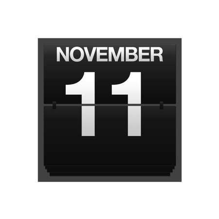 11 number: Illustration with a counter calendar november 11