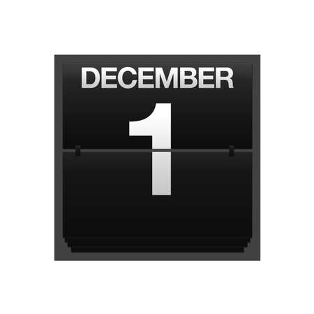new year counter: Illustration with a counter calendar december 1