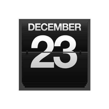 23: Illustration with a counter calendar december 23  Stock Photo