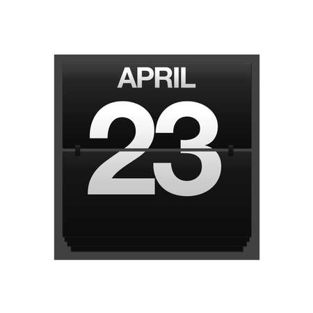 23: Illustration with a counter calendar april 23