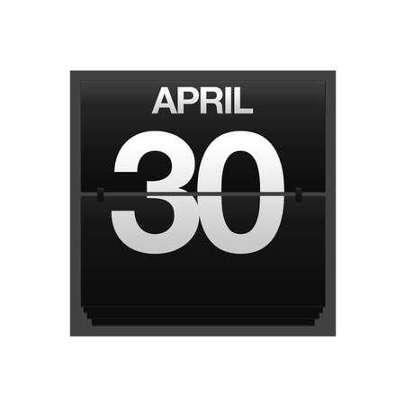 Illustration with a counter calendar april 30 Stock Illustration - 15667629