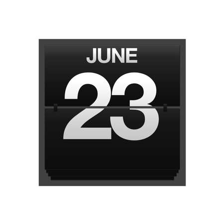 23: Illustration with a counter calendar june 23  Stock Photo