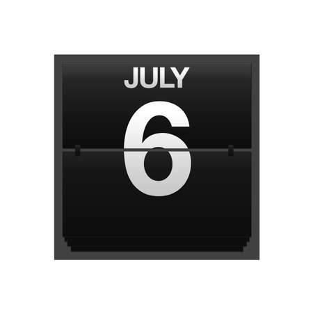 new year counter: Illustration with a counter calendar july 6  Stock Photo