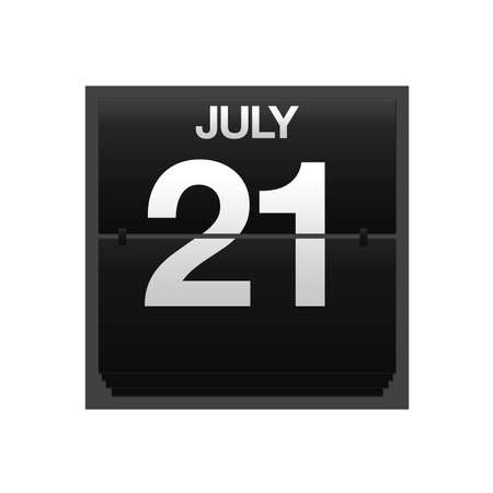 new year counter: Illustration with a counter calendar july 21  Stock Photo