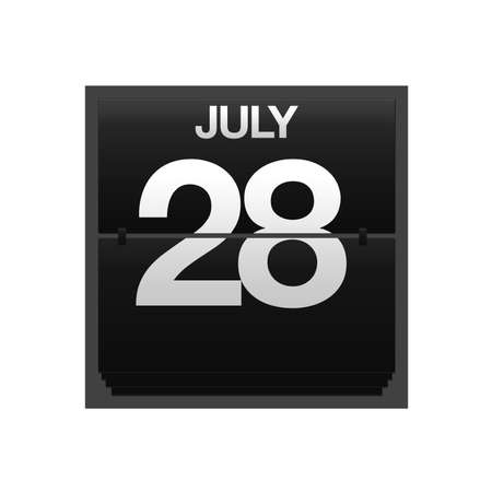 new year counter: Illustration with a counter calendar july 28  Stock Photo