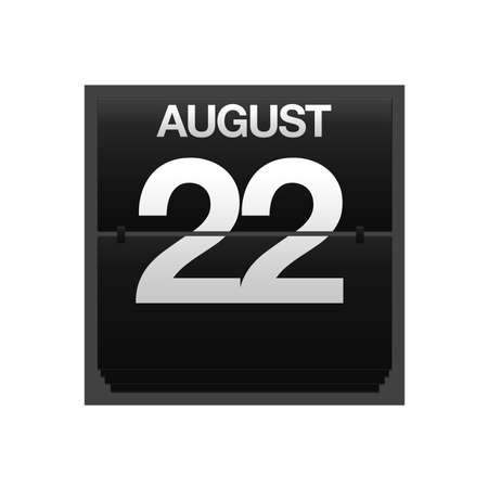 Illustration with a counter calendar august 22 Stock Illustration - 15707462