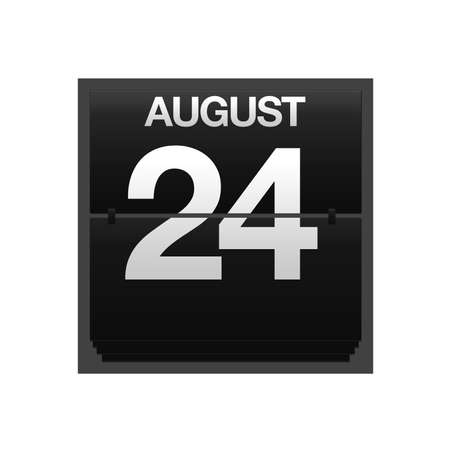 Illustration with a counter calendar august 24 Stock Illustration - 15707442