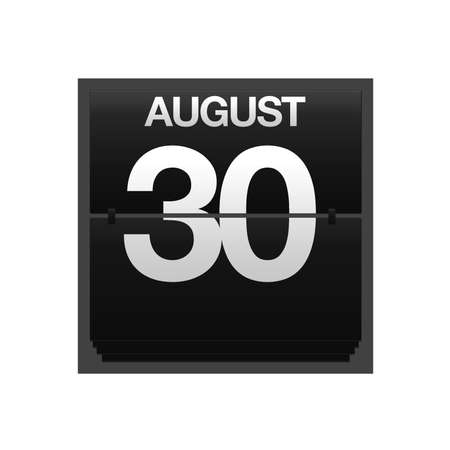 Illustration with a counter calendar august 30  Stock Illustration - 15707471