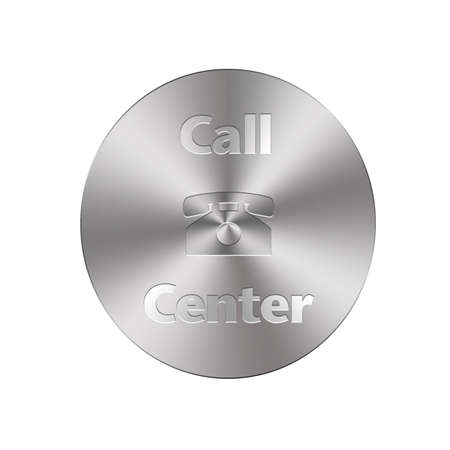 Illustration with a metal phone button on a white background Stock Illustration - 16057933