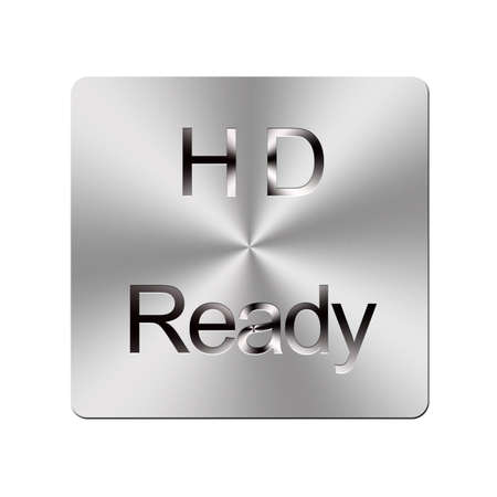 Illustration with a HD ready button on a white background  Stock Illustration - 16057975