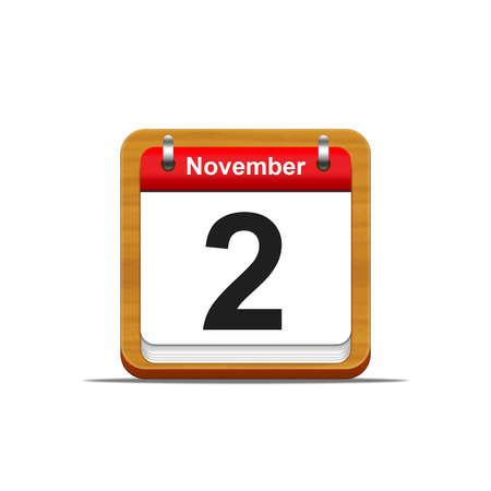 Illustration elegant wooden calendar on white background Stock Illustration - 16139822