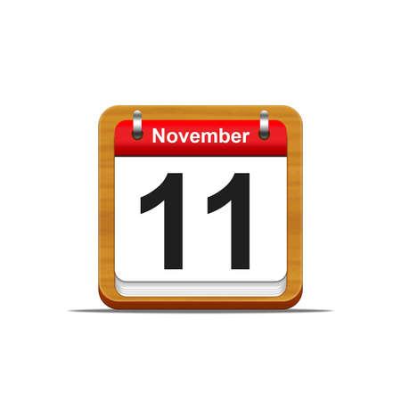 Illustration elegant wooden calendar on white background  Stock Illustration - 16139821