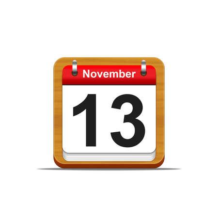 Illustration elegant wooden calendar on white background Stock Illustration - 16139834