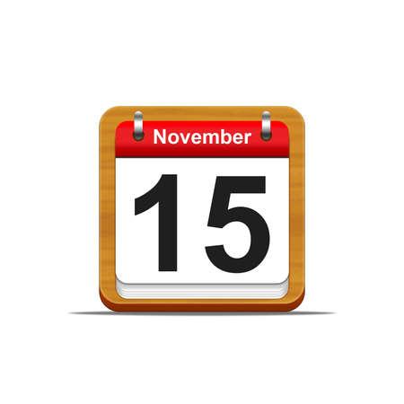 Illustration elegant wooden calendar on white background  Stock Illustration - 16139833