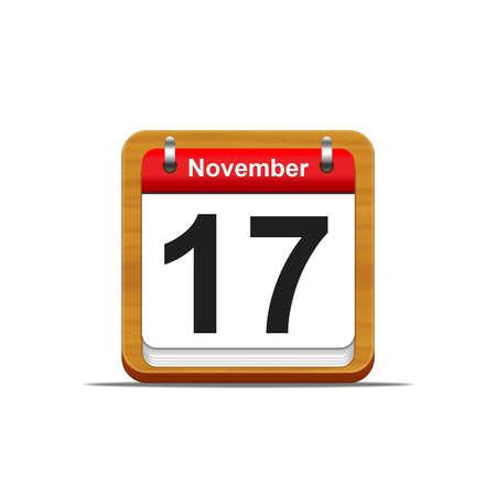 Illustration elegant wooden calendar on white background Stock Illustration - 16139825