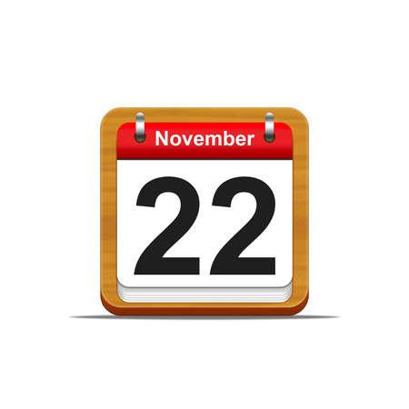 Illustration elegant wooden calendar on white background  Stock Illustration - 16139839