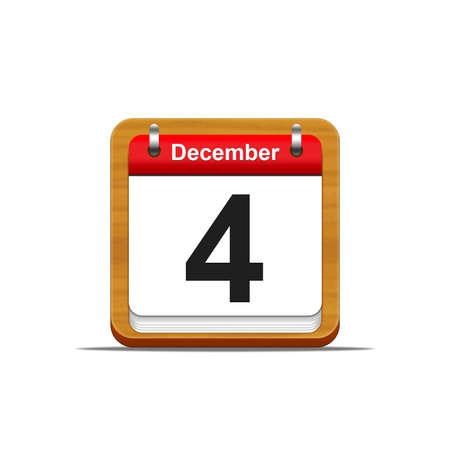 Illustration elegant wooden calendar on white background  Stock Illustration - 16182106