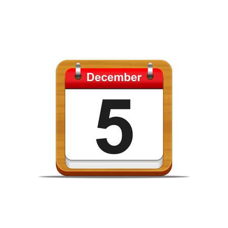 Illustration elegant wooden calendar on white background Stock Illustration - 16182116