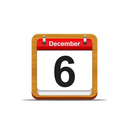 Illustration elegant wooden calendar on white background  Stock Illustration - 16182140