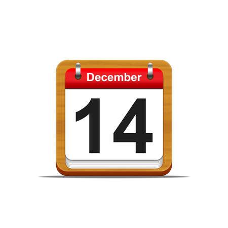 Illustration elegant wooden calendar on white background Stock Illustration - 16182118