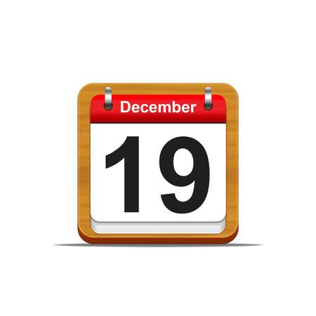 daily planner: Illustration elegant wooden calendar on white background  Stock Photo
