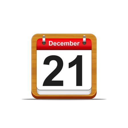 Illustration elegant wooden calendar on white background  Stock Illustration - 16182144